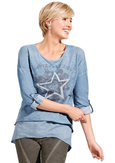 Classic Inspirationen Longshirt Mit Effektvoller