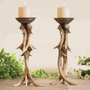 antler pillar candle holder With kitchen cabinets lowes with iron pillar candle holders