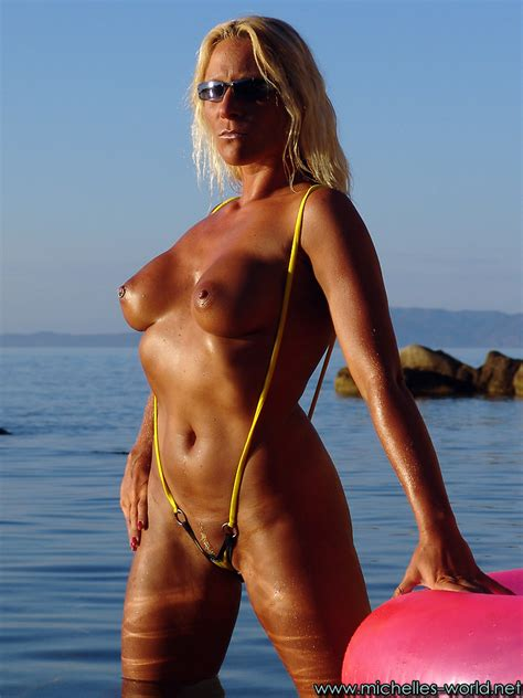 Pictures Of Michelle Berger In Yellow Bikini