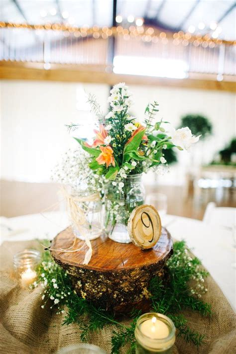 top  easy wood log centerpiece designs unique wedding