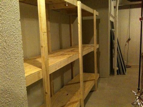 build  standing shelving unit  basement  garage