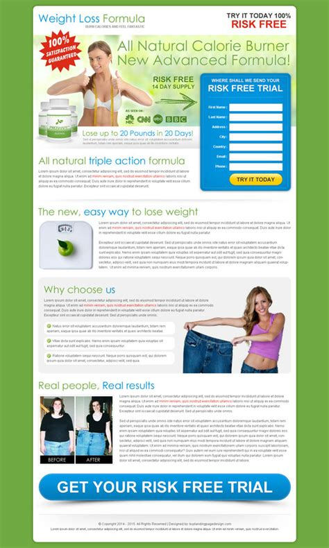 best landing page templates best conversion centered weight loss landing pages 2014