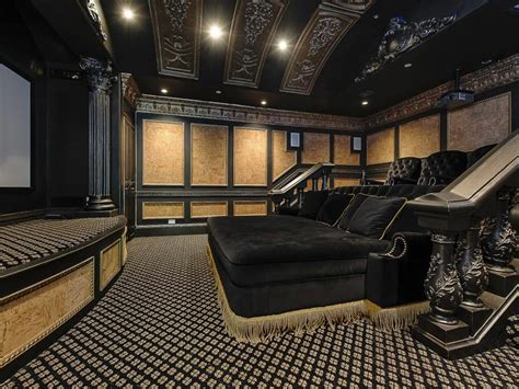 traditional home theater with chair rail bliss lounger