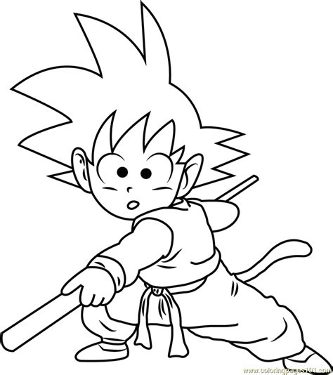 goku coloring page  goku coloring pages