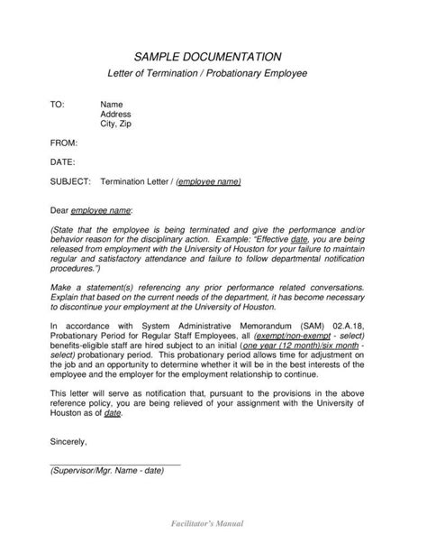employee termination template employment termination letters 10 free word pdf excel format free premium templates