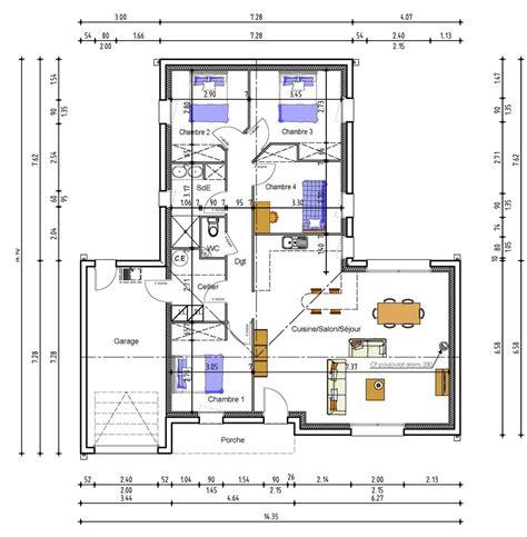 plan de maison 2 chambres plan dune maison avec 4 chambres maison moderne
