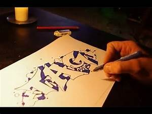 How to Draw Graffiti block Letters step by step on paper ...