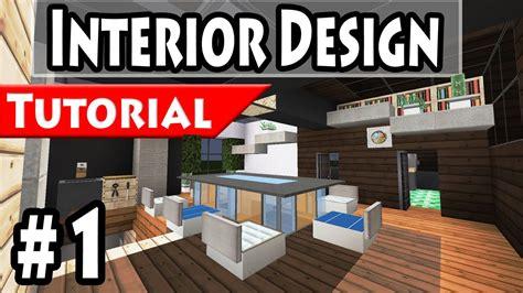 how to design home interior minecraft modern house interior design tutorial part 1