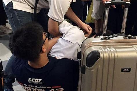 hold  upskirt suspect  mall latest singapore