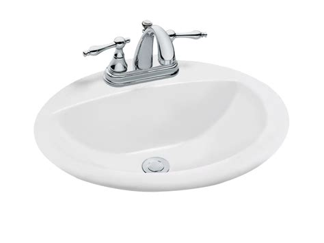 glacier bay bathroom sinks glacier bay oval drop in bathroom sink in white the home