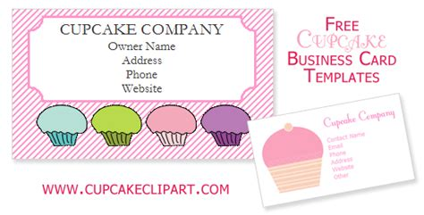 Free Cupcake Business Card Templates