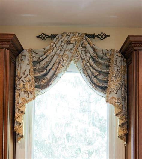 Custom Drapery Ideas - simple easy one rod one panel foyer curtains