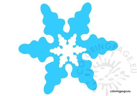 snowflake printable coloring page