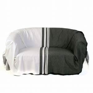 Jeté De Canapé Madura : jet pour canap format rectangulaire noir et blanc 100 ~ Melissatoandfro.com Idées de Décoration
