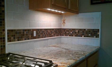 glass border tiles for kitchen kitchen back splash travertine sub way and glass mosaic 6805