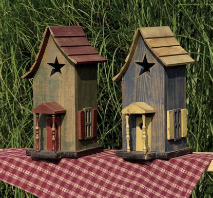 Amish Little Star Garden Bird House With Porch Best