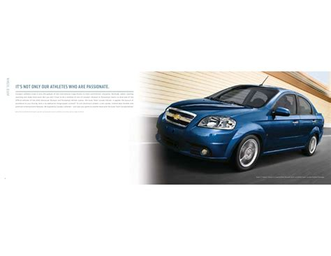 High Mpg Car by Chevrolet Aveo High Mpg Compact Car Brochure