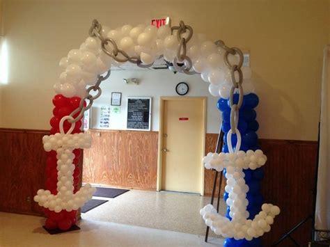 balloon decor   nautical baby shower nauticalparty