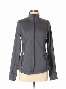 Active By Old Navy Solid Gray Jacket Size M 75 Off