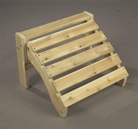 pied de bureau bois chalet jardin boutique repose pieds pour fauteuil en
