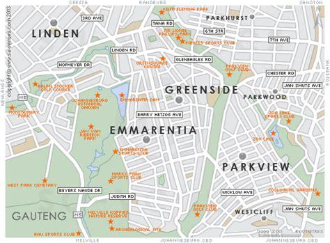emmarentia map