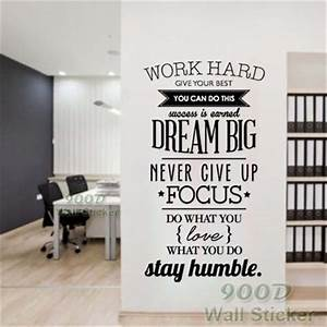 Dream big inspiration quote wall stickers diy home