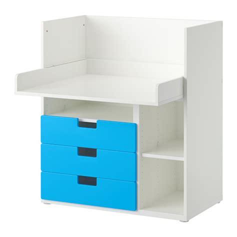 bureau bleu ikea stuva bureau 3 tir blanc bleu ikea