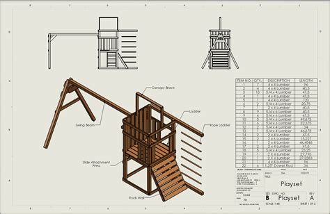 wood playset plans  woodworking