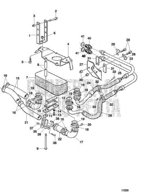 volvo penta exploded view schematic gearbox cooling
