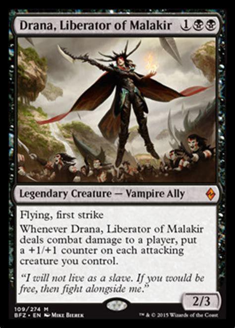 mtg black deck archetypes drana liberator of malakir battle for zendikar mtg
