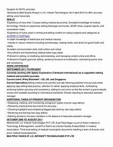 how to write a senior copy editor resume online With edit resumes for money