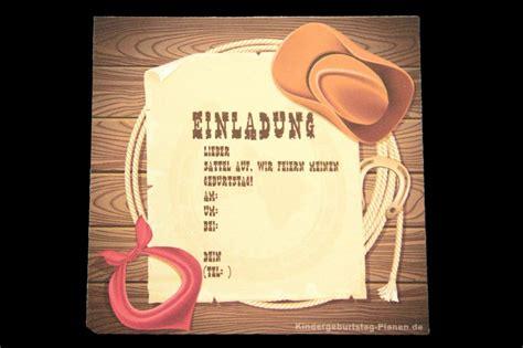 einladung cowboy geburtstag kindergeburtstag cowboy