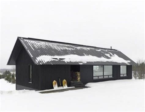Modern Cabin Love The Black With Black Metal Roof And The