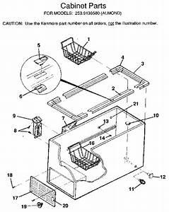 Kenmore Chest Freezer Lid Parts