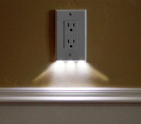 exterior light socket outlet led night light outlet covers install in seconds use just