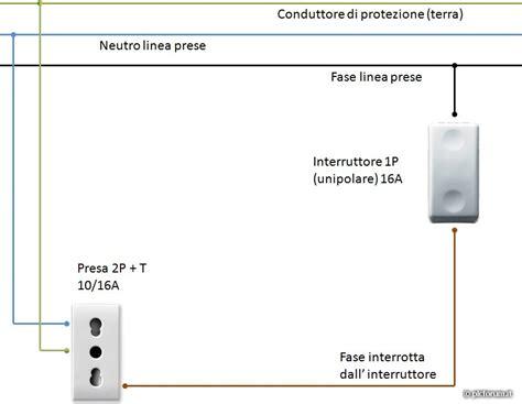 Come Collegare Un Interruttore Ad Una Lada schema elettrico interruttore e presa impianto elettrico