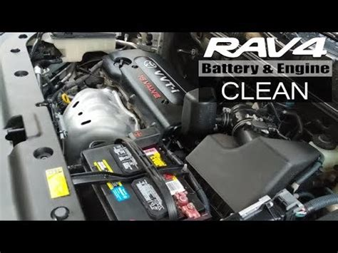 rav battery  engine clean youtube