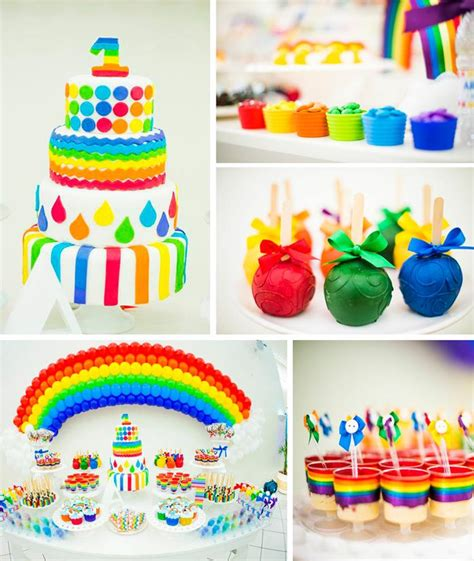 kara 39 s party ideas rainbow themed birthday party rainbow 1st birthday boy cakes