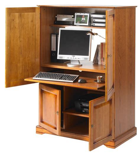 armoire bureau informatique meuble ordinateur fermé bureaux prestige