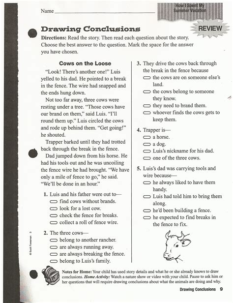 reading activity sheets for third graders worksheets for