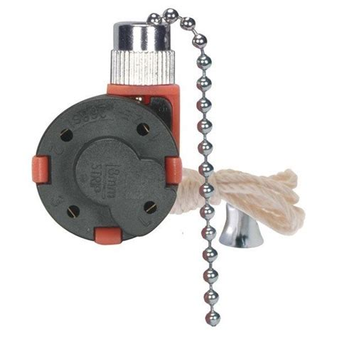 ceiling fan pull chain switch 3 speed 1 pull chain 3 speed fan switch 4 wire nickel satco 80