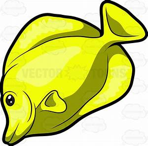 A Yellow Tang Fish Vector Clip Art Cartoon