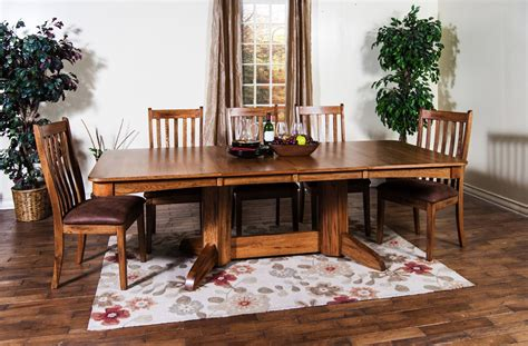 sedona rectangular trestle table dining room set