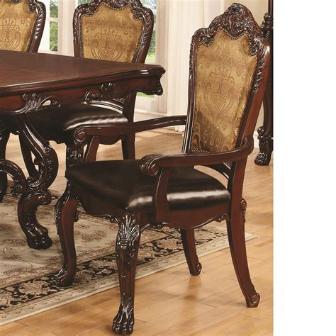 abigail cherry upholstered dining arm chair set of 2 from