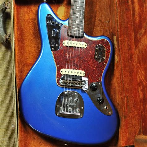 Blue Fender Jaguar by Fender Jaguar 1964 Lake Placid Blue Reverb