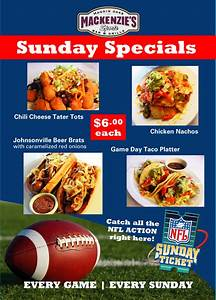 October Food Specials at MacKenzie's Sports Bar and Grille Haggin Oaks