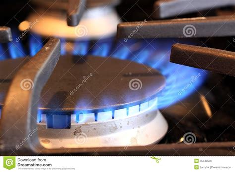 Natural Gas Flame On Stove Royalty-free Stock Image