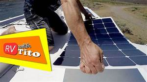How To Install a Flexible Solar Panel on an RV - YouTube