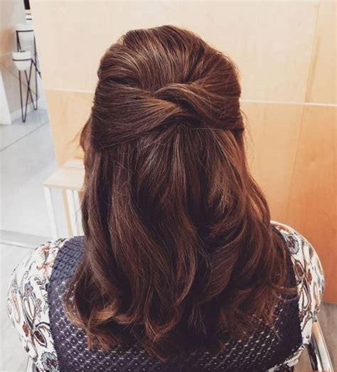 20 easy half up hairstyles that ll only take minutes to