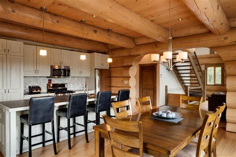 Esszimmer Le Industriedesign by Log Homes And Timber Frame Portfolio Harkins Ca